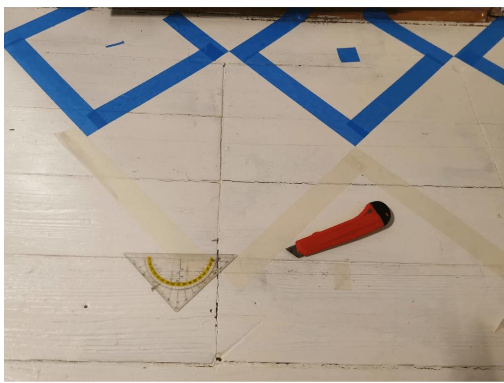 Chessboard pattern DIY