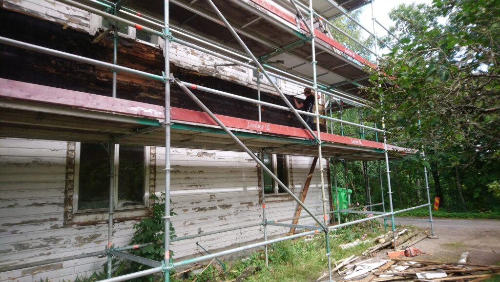 Tear off the old facade