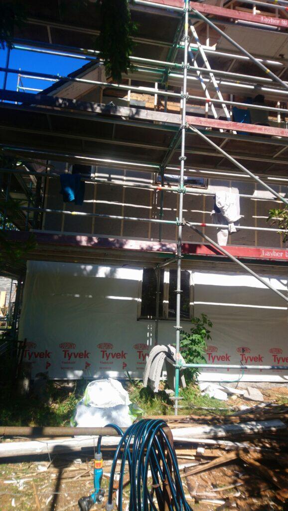 Facde renovation insulation