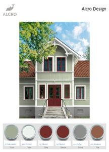 Alcro color scheme for trähus