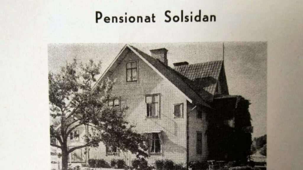 Old photograph of our house from 1947