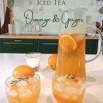 orange ginger icedtea