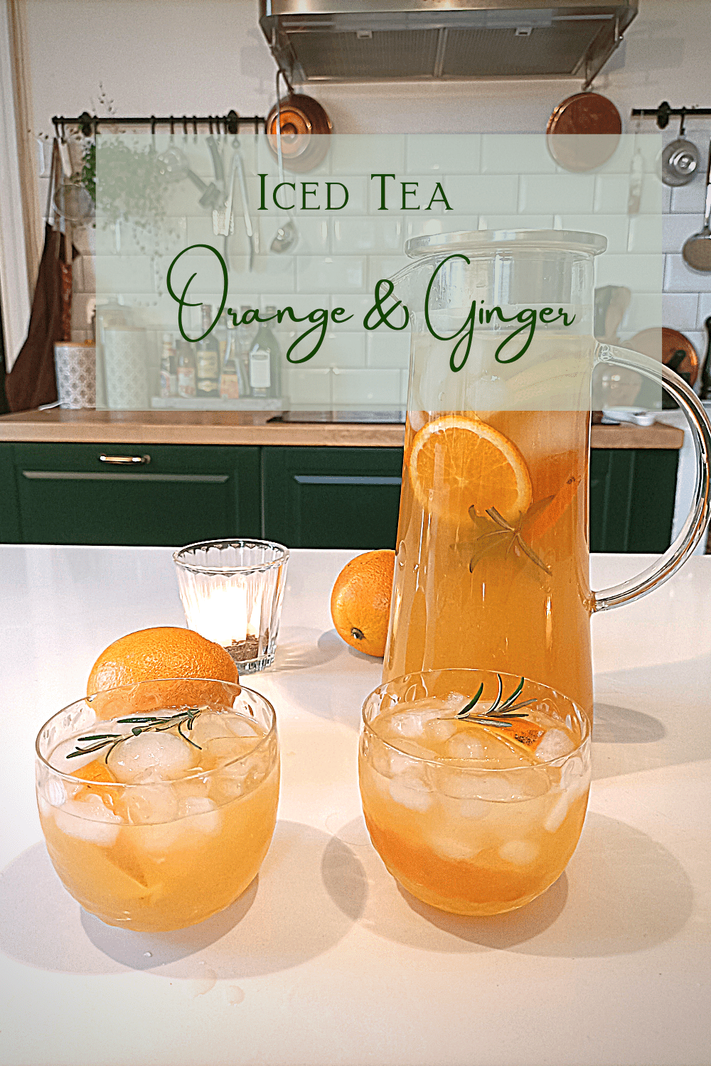 IcedTea With Oranges & Ginger – Non-alcoholic tasty and easy to make