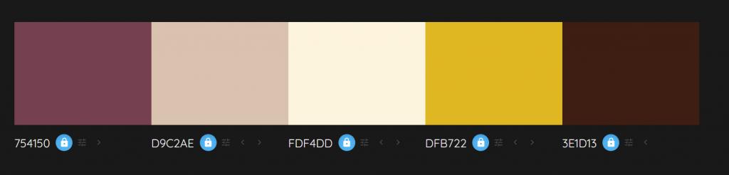 colour palette red tones
