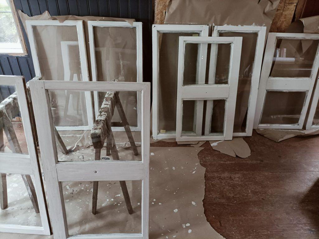 wooden window restauration